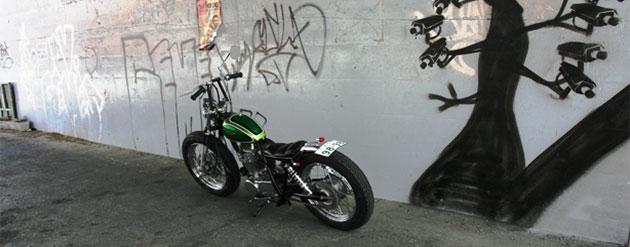 Una bobber SR400, Yellow Motorcycles