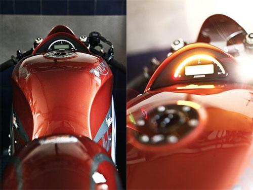 Instrumento motoscope de motogadget, discreto y bien integrado.
