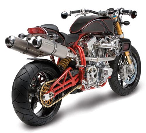 Silenciosos fabricados, como el resto de la moto, a mano.