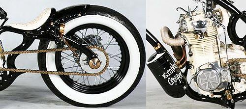 Bellísimos detalles en esta moto.